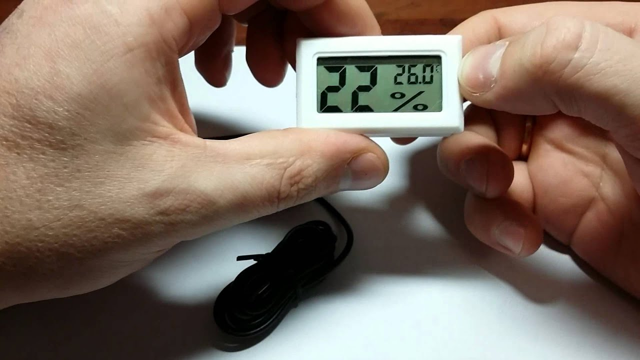 Термометр-гигрометр с Aliexpress - YouTube