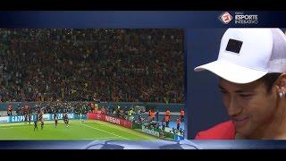 Neymar se emociona ao assistir seu gol com narração de André Henning: 'Arrepia'