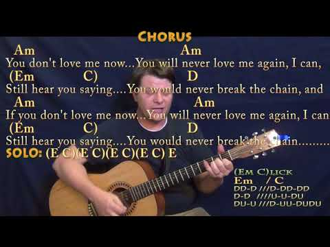 The Chain (Fleetwood Mac) Strum Guitar Cover Lesson with Chords/Lyrics