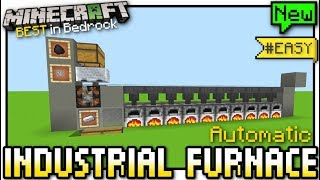 Minecraft - INDUSTRIAL FURNACE ( Automatic ) [ Redstone Tutorial ] MCPE / Bedrock / Xbox / Switch