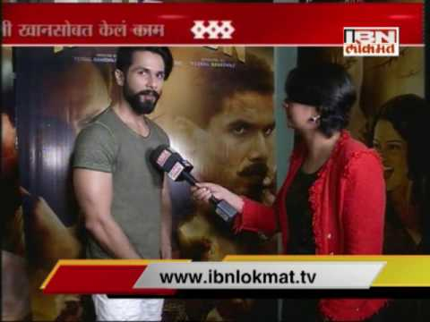 Interview with Shahid Kapur for film 'Rangoon'