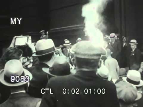 Stock Footage - Al Capone Leaving Courthouse, Chicago, 1931