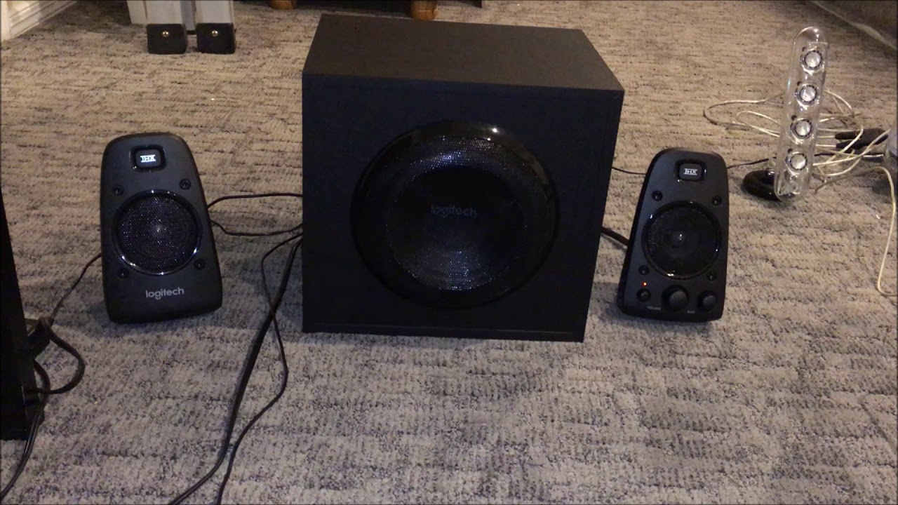 computer speaker comparison and sound test logitech z623. Black Bedroom Furniture Sets. Home Design Ideas