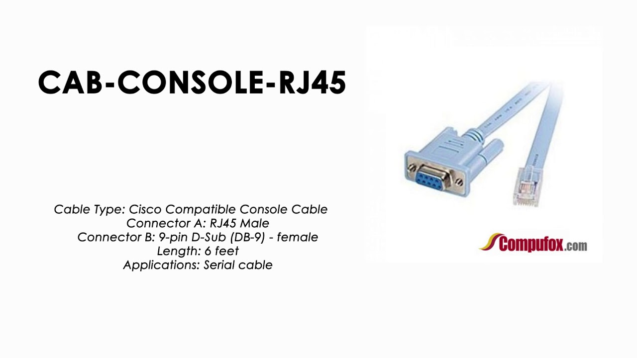 Console Cable RJ45 to DB9 CabConsole 72-3383-01 for Cisco Switch Router NEW