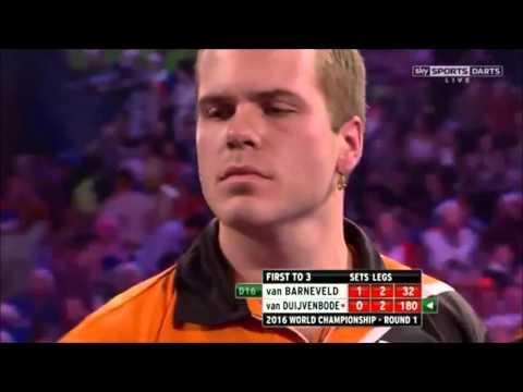 DIRK VAN DUIJVENBODE BUSTS A 180! - PDC World Darts Championship 2016 vs Barney