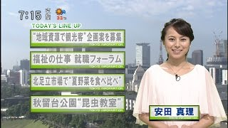 堀潤「安田さんのきょうの衣装はガンダムのララァみたいですね」 安田真理「…はい(苦笑)」 [モーニングCROSS]