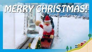 JINGLE BELLS - Modelleisenbahn und Flugzeug spielen Weihnachtslied