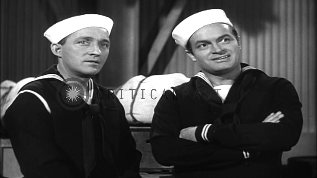 scenes from road to home starring bob hope and bing crosby us navy film to fac hd stock footage