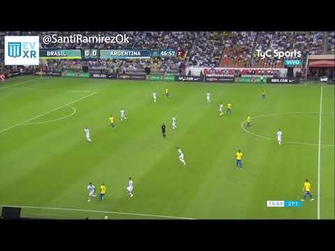 Renzo Saravia vs Neymar - Argentina 0 Brasil 1