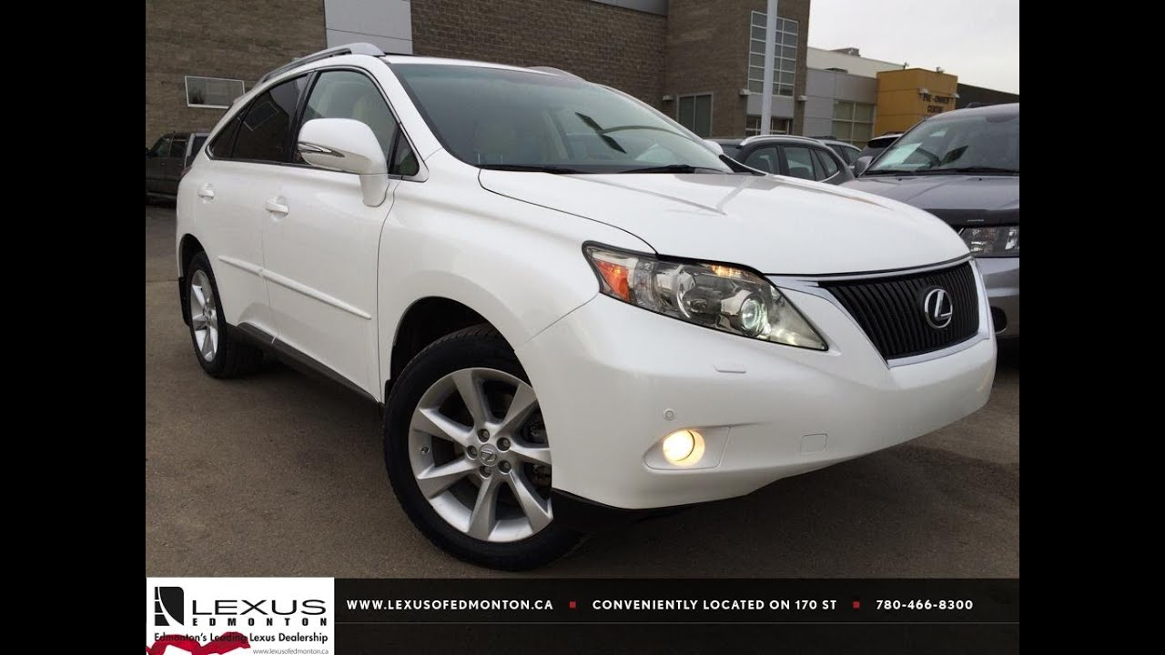 Used White 2012 Lexus RX 350 AWD Ultra Premium Package 1 Review | Medicine  Hat Alberta