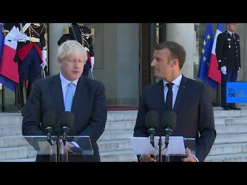 Euronews:Live | French President Emmanuel Macron and UK Prime Minister Boris Johnson give statement