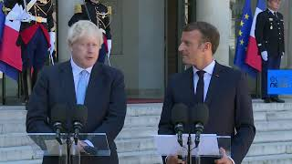 Live | French President Emmanuel Macron and UK Prime Minister Boris Johnson give statement