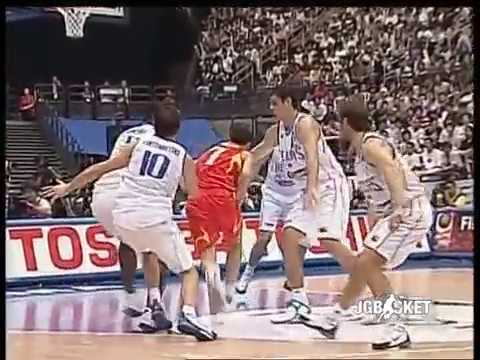 World Basketball Championship. Japan. Final Spain vs Greece