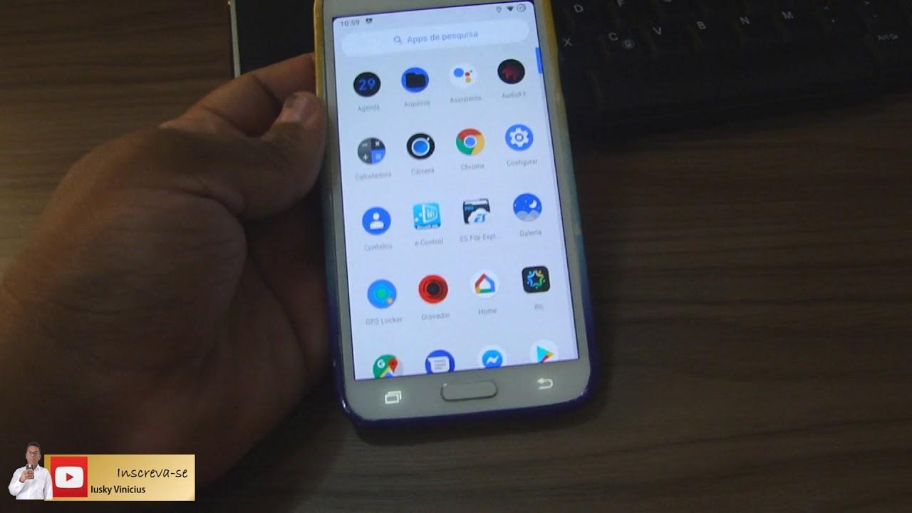 Samsung Galaxy S5 com costum rom Viper OS Android 9 PIE