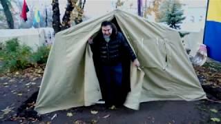 Саакашвли переехал в палатку протестного лагеря под Верховной Радой