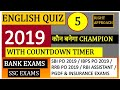 #English #sbiPO #sscCGL English Quiz 5/Boost Your Score in English 20+ out of 30