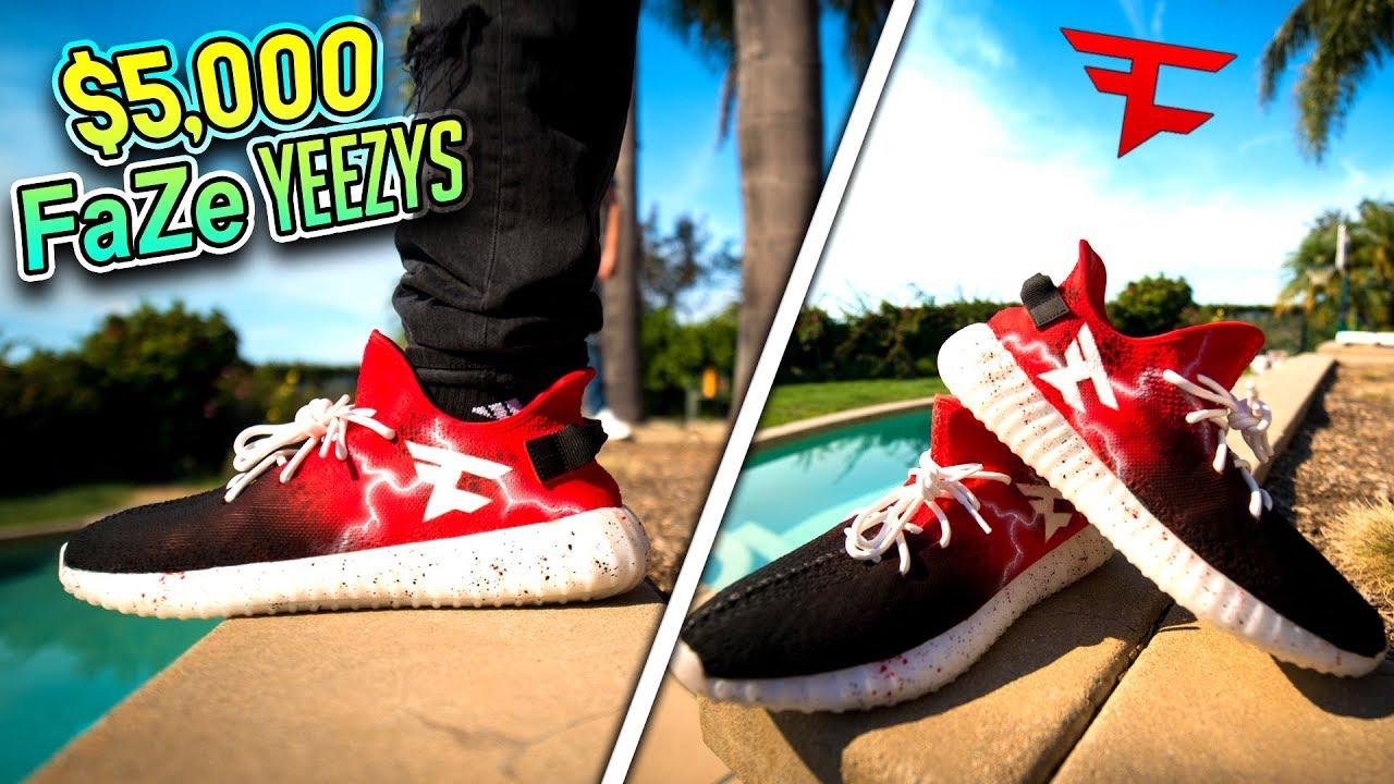 5 000 Custom Faze Yeezys Youtube
