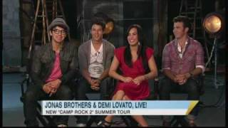 Catching Up With Jonas Brothers and Demi Lovato YouTube Videos