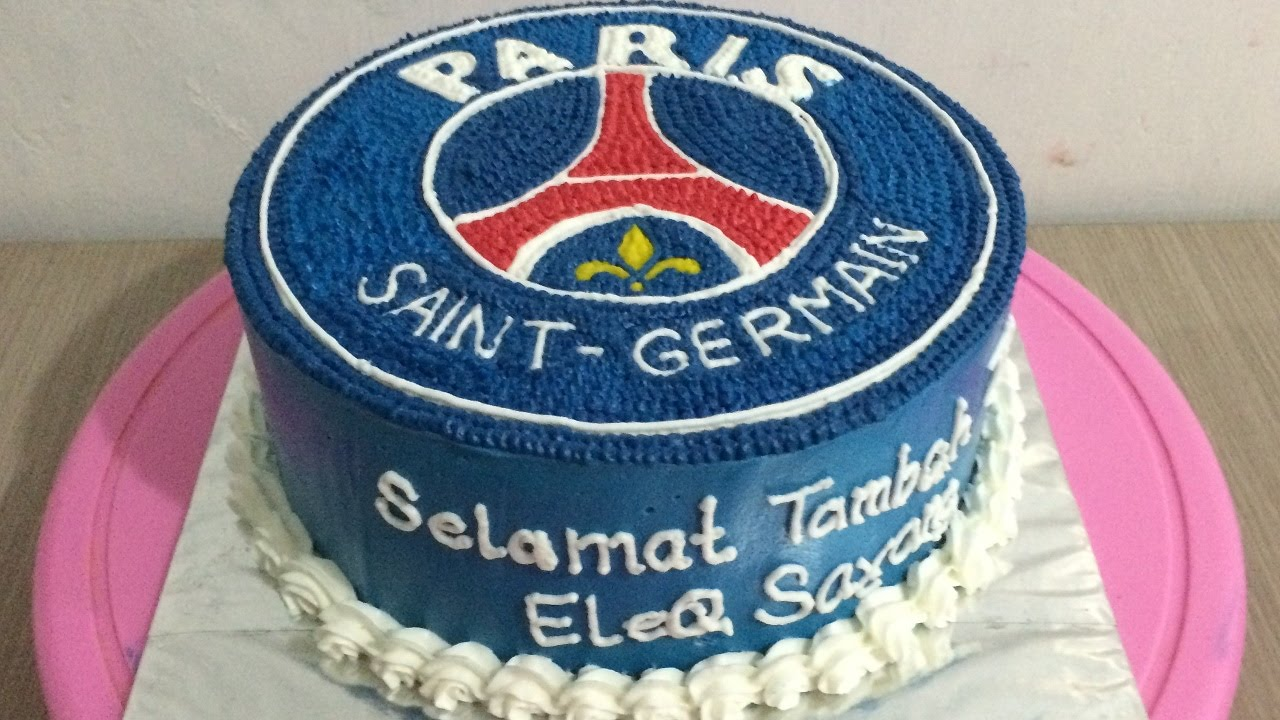 Psg Club Logo Cake Decorating Youtube