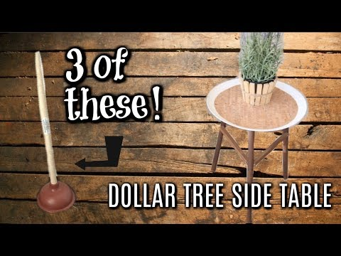 DOLLAR TREE FARMHOUSE DIY'S// PATIO SIDE TABLE//  WOOD PLANTER