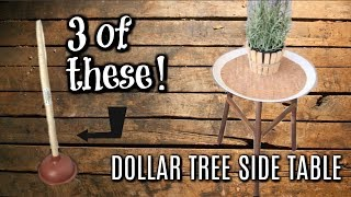 DOLLAR TREE FARMHOUSE DIY'S// PATIO SIDE TABLE//  WOOD PLANTER