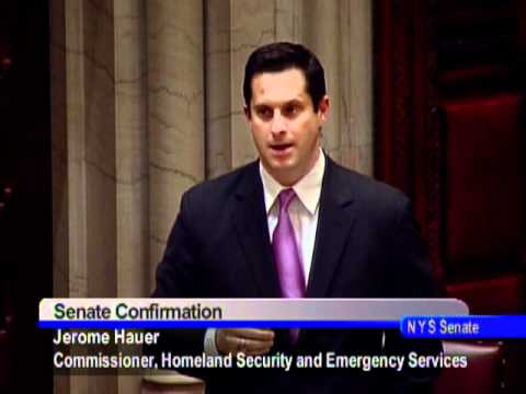 Senator Greg Ball comments on the nomination of Jerome Hauer, Commissioner of Homeland Security