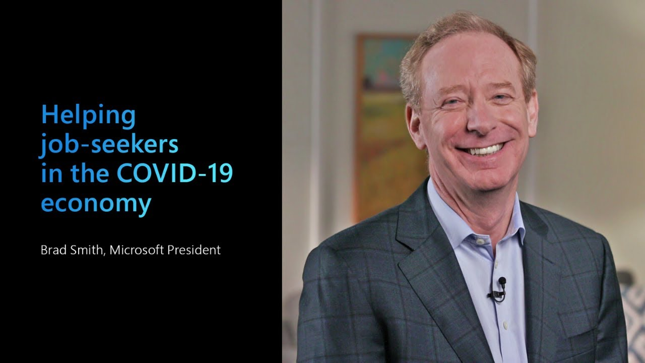 Microsoft President Brad Smith on helping job-seekers in the Covid-19 economy