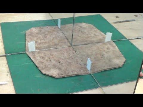 How to veneer a quartered burr panel - wood veneer project