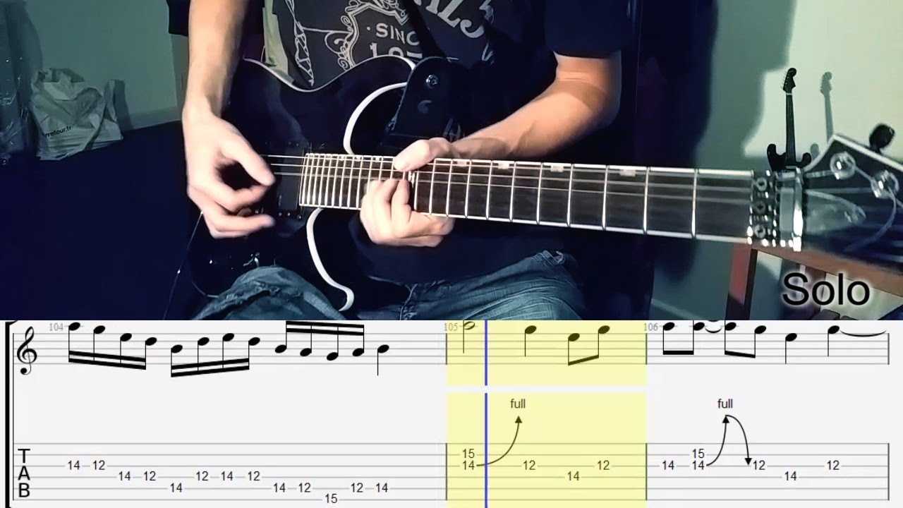 metallica revenge full guitar lesson tabs hd youtube