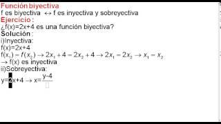 Función biyectiva teoría y ejercicio 1