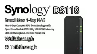 Synology DiskStation NAS DS118 1-Bay (1GB RAM) UK POWER ONLY