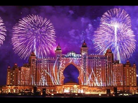 New Year 2018 Firework UAE - Emirates Palace Abudhabi - LIVE