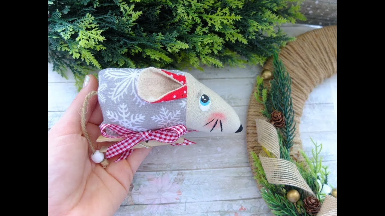 Елочная игрушка символ года 2020/мышка своими руками/Crochet mouse 2020