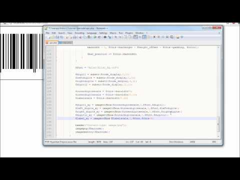 PHP Tutorial: How to Generate a UPC Barcode? Part: 3