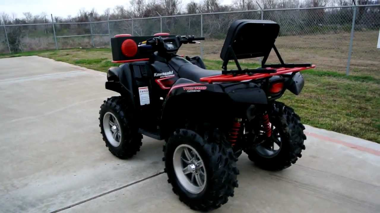 medium resolution of 2008 kawasaki brute force 750 4x4 fi with lift stereo and wheel and tire upgraded youtube