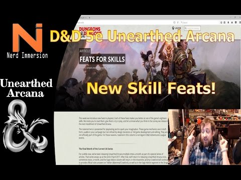 D&D 5e | Unearthed Arcana - Skills for Feats! | Nerd Immersion