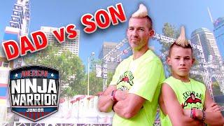 Beckstrand Mohawk Ninja DAD VS. SON | American Ninja Warrior Junior | Universal Kids