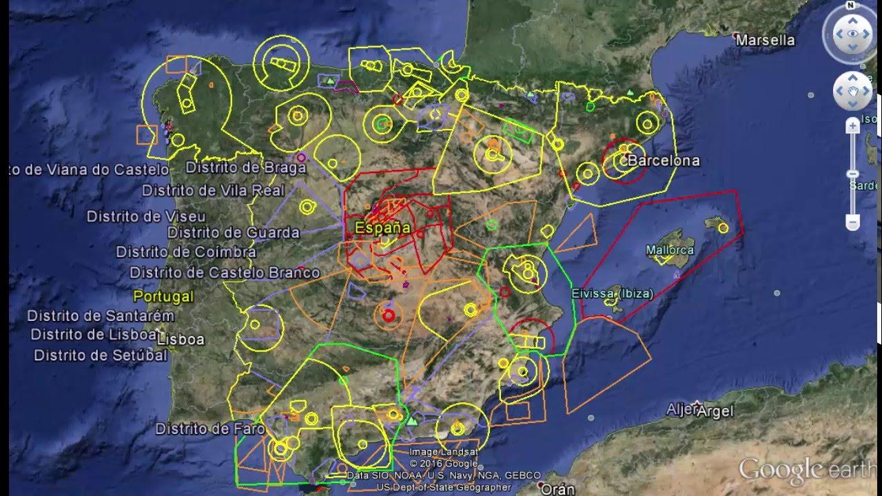 Mapa Zonas Vuelo Drones.Zonas Para Poder Volar Drones
