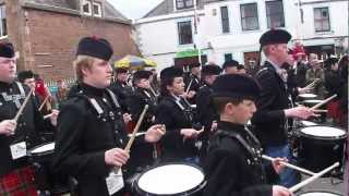 Cadet Force Pipes and Drums 2012 Dingwall- Green Hills