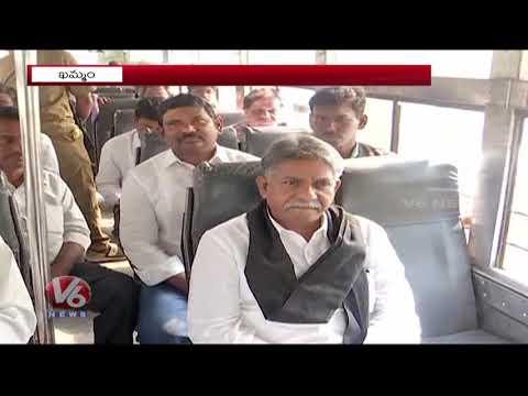 Manda Krishna Madiga Takes Bus Ride To Bhadradri : Save RTC | V6 Telugu News