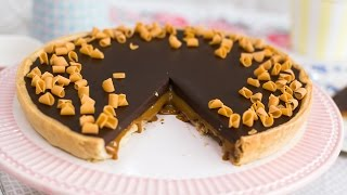 Tarta de chocolate y dulce de leche - Receta en un minuto - María Lunarillos | tienda & blog