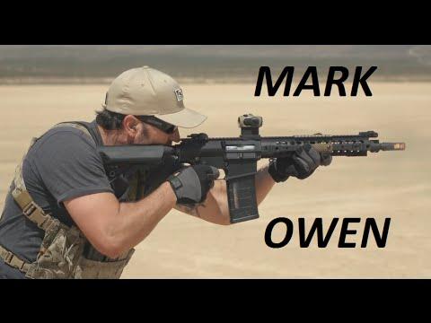 Former SEAL TEAM 6 member Mark Owen at fire range