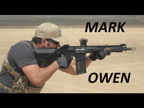 Former SEAL TEAM 6 member Mark Owen at fire range