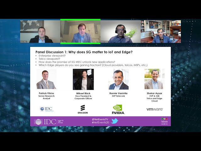 NetEvents inter@ctive - Why 5G matters in a world of IoT, VR, AR, AI and Edge – Full webcast