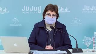 Teleconferencia de la ministra de Educación de la provincia, Isolda Calsina