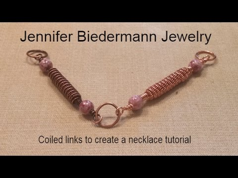 Coils and pearls link necklace tutorial