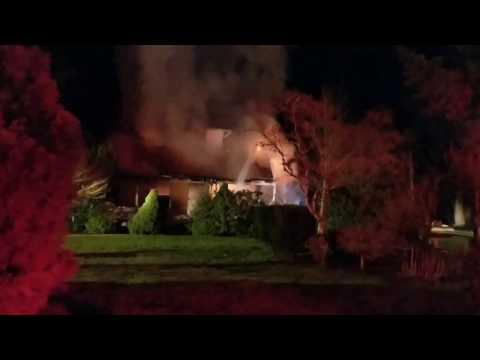 2 alarm Ridgefield WA, house fire 3/6/2017