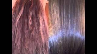 Кератиновое выпрямление восстановление волос.