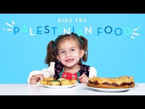 Kids Try Palestinian Food | Kids Try | HiHo Kids