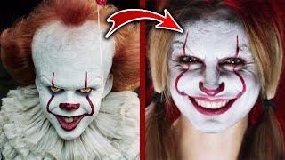 Makeup Artist Recreates A Pennywise-Inspired Halloween Makeup Look